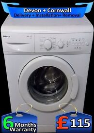 Big 6Kg Drum, Time Save, Fast Beko 1300 spin, A+ Rated, Fully Refurbished inc 6 Months Warranty