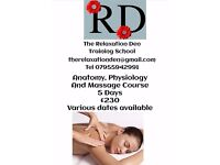 Anatomy and Physiology, Massage Course