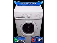 Quick Wash, 6Kg Load, Fast 1400, Zanussi Auto Washer Dryer, Fully Refurbished inc 6 Months Warranty
