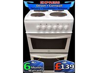 Indesit twin Cavity, Solid Plate Hob, Top Grill, Fully Reconditioned inc 6 Months Warranty