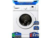 1400 Spin, Fast Wash, Beko Washing Machine, 7kg Drum, Factory Refurbished inc 6 Months Warranty