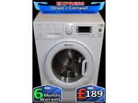 Steam Machine, Hotpoint 9Kg Mega Drum, AAA+ Rated, LCD, Fully Reconditioned inc 6 Months Warranty
