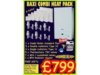 Baxi Combi central heating radiator heat pack