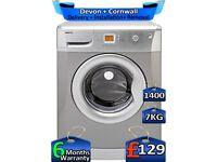 Beko Washing Machine, Fast Wash, 1400 Spin, 7kg Drum, Factory Refurbished inc 6 Months Warranty