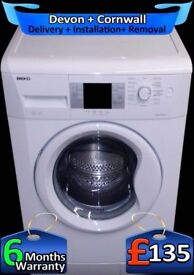 Beko Washing Machine, Fast 1300, Big 8kg Drum, LCD, A+Rated, Fully Refurbished inc 6 Months Warranty