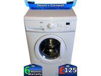 Zanussi Washing Machine, 1600 Mega Spin, Fast Wash, LCD, Factory Refurbished inc 6 Months Warranty
