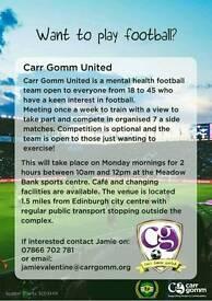 Mental health football team