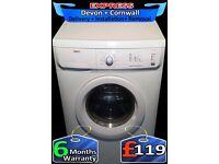 Big 6Kg Zanussi Washing Machine, Rapid Wash, Fast 1200, Fully Reconditioned inc 6 Months Warranty