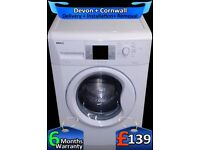 1600 Mega Spin, Beko Washing Machine, A+, Quick Wash, LCD, Factory Refurbished inc 6 Months Warranty