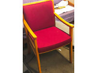 Set of 4 good quality upholstered chairs suitable for home, office, conference.