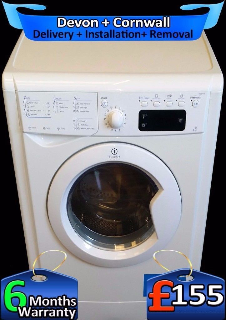 9Kg Mega Drum, LCD, Fast 1400, Top Indesit Washing Machine, Fully Refurbished inc 6 Months Warranty