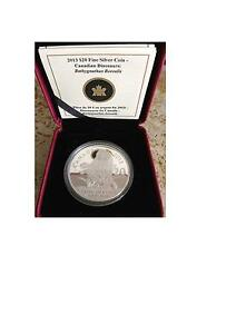 2013 Canada $20 Fine Silver Coin - Canadian Dinosaurs 1st series