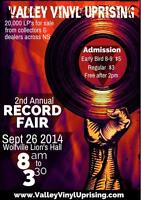25,000 LPs Records at Valley Vinyl Uprising 2  Sept 26 Wolfville