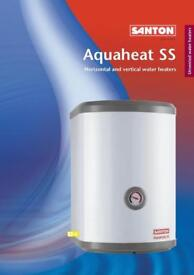 NEW BOXED Santon Aquaheat SS 50 Litre Horizontal Unvented Water Heater RRP £600 Price Drop
