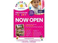 NURSERY PLACES AVAILABLE FOR AGE 2, 3 & 4