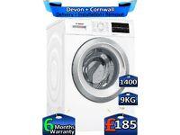 9kg Drum, 1400 Spin, Inverter, Bosch Washing Machine, Factory Refurbished inc 6 Months Warranty