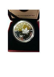 2013 $5 Silver- 25th Anniversary of the silver maple leaf (SML)