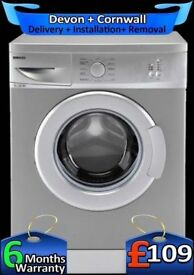 Beko Washing Machine, 5Kg, Fast 1100, Silver, Slimline, Factory Refurbished inc 6 Months Warranty