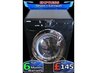 Huge 8Kg Drum, Fast 1400 spin, Top Spec, Gloss Black, A+, Fully Reconditioned inc 6 Months Warranty