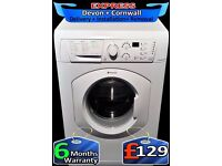 Fast 1200, Quick Wash, Hotpoint Big 7Kg Drum, A+ Rated, Fully Reconditioned inc 6 Months Warranty