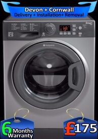 Hotpoint Washing Machine, 9Kg Mega Drum, Smart Tech, AAA+, Fully Refurbished inc 6 Months Warranty
