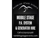Trailer Stage and Sound Equipment hire