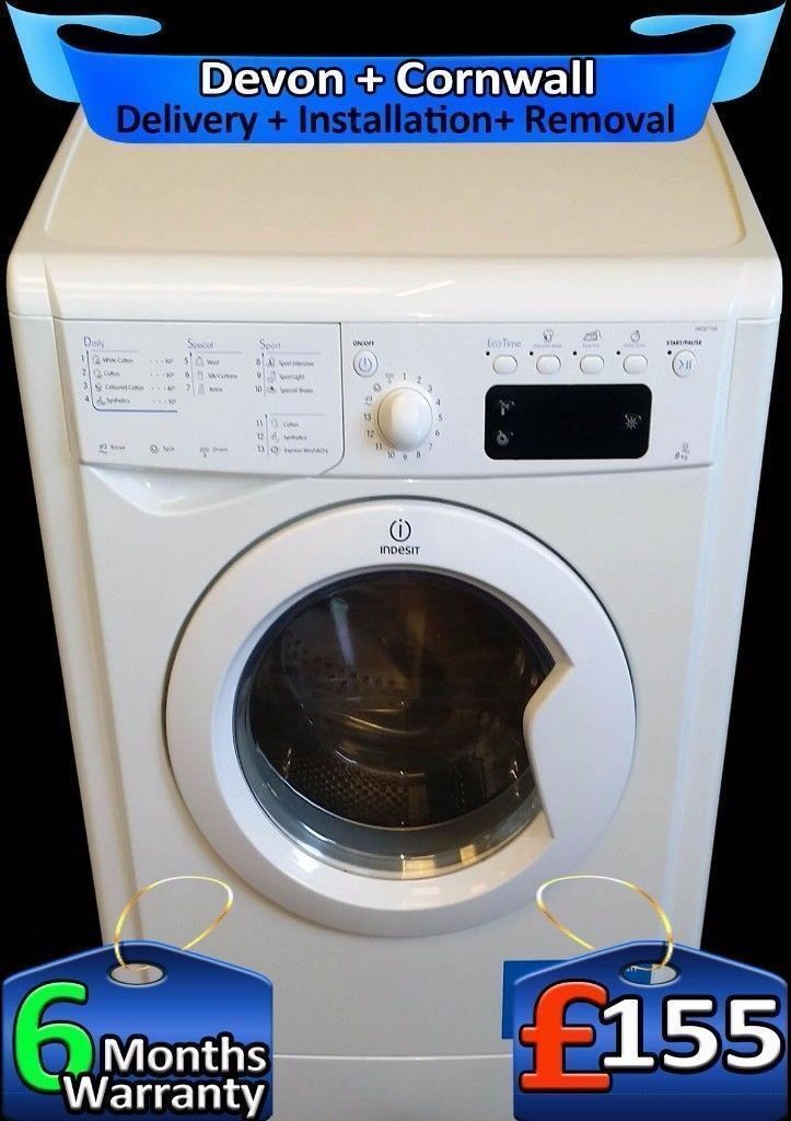 Top Indesit Washing Machine, LCD, Fast 1400, 9Kg Mega Drum, Fully Refurbished inc 6 Months Warranty