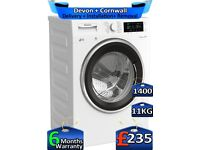 1400 Spin, MEGA 11KG, Blomberg Washing Machine, FULL LCD, Factory Refurbished inc 6 Months Warranty