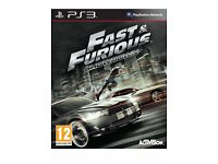 FAST & FURIOUS SHOWDOWN GAMES FOR PS3 OR XBOX 360 SEALED