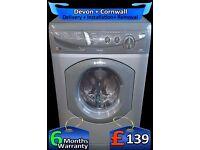 Fast 1400 Hotpoint Washer Dryer, Graphite Grey & Silver, Fully Refurbished inc 6 Months Warranty