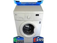 Top Tech, Big 7Kg, LG Washing Machine, 1200, No Belt, LCD, Factory Refurbished inc 6 Months Warranty