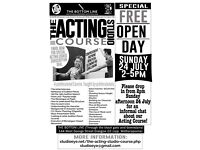 Special Free Open Day: Acting Classes - Sunday 24 July 2-5pm