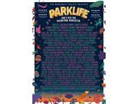 2 weekend parklife tickets