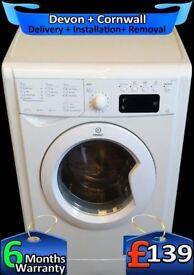 Indesit Washing Machine, 9Kg Mega Drum, Fast 1200, LCD, Fully Refurbished inc 6 Months Warranty
