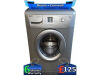 Big 6Kg, A+, Silver, 1600 Mega Spin, Beko Washing Machine, Factory Refurbished inc 6 Months Warranty