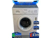 5.5kg Drum, Candy Washing Machine, 1100 Spin, Integrated, Factory Refurbished inc 6 Months Warranty