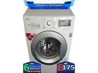 LG Washing Machine, Top Tech, No Belt, Big 7Kg, Fast Wash, Factory Refurbished inc 6 Months Warranty