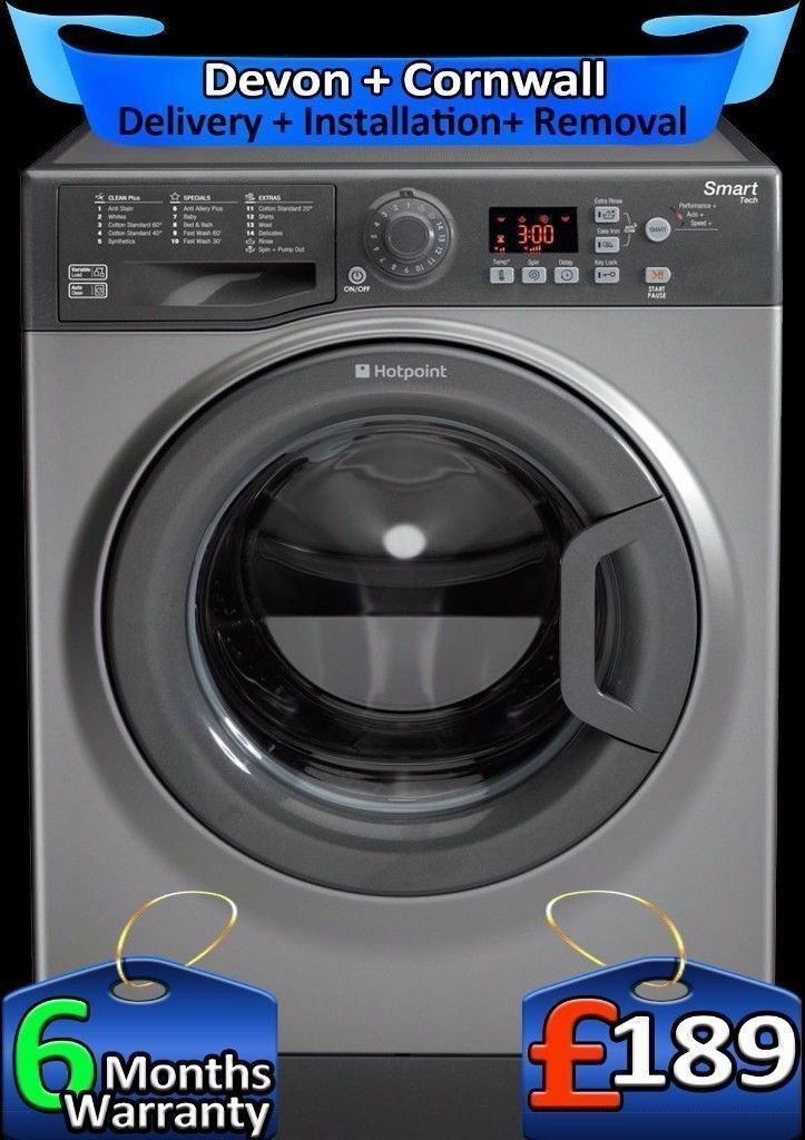 Smart Tech, AAA+, Hotpoint Washing Machine, 9Kg Mega Drum, Fully Refurbished inc 6 Months Warranty