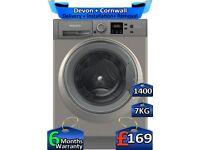 7kg Drum, Hotpoint Washing Machine, 1400 Spin, Fast Wash, Factory Refurbished inc 6 Months Warranty