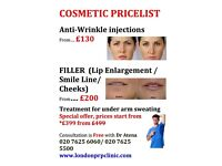 Anti-Wrinkle injection, Filler, Invisalign Braces, PRP/ Dracula therapy (hair loss)