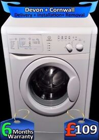 5.5Kg Drum, 1100 Spin, Indesit Washing Machine, Daily Wash, Fully Refurbished inc 6 Months Warranty