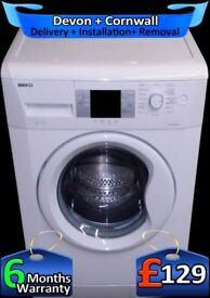 Big 8kg Drum, Beko Washing Machine, Fast 1300, LCD, A+Rated, Fully Refurbished inc 6 Months Warranty