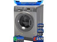Rapid Wash, 8kg Drum, 1400 Spin, Hotpoint Washing Machine, Factory Refurbished inc 6 Months Warranty