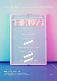 4x The 1975 standing tickets, SSE Hydro Glasgow, Monday 19th December 2016