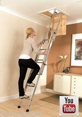 YOUNGMAN EASIWAY | EASYWAY LOFT LADDER 3 SECTION | ALUMINIUM LOFT LADDERS