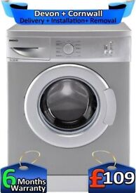 Beko Washing Machine, Slimline, Mini Wash, 1100 spin, Factory Refurbished inc 6 Months Warranty