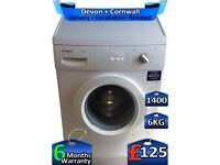 Fast Wash, Bosch Washing Machine, 1400 Spin, 6kg Drum, Factory Refurbished inc 6 Months Warranty