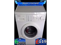 Touch Control, Bosch 6Kg Drum, Fast 1200, Many Options, Fully Refurbished inc 6 Months Warranty