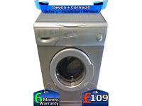 Beko Washing Machine, 5.5kg, Fast Wash, 1200 Spin, Silver, Factory Refurbished inc 6 Months Warranty