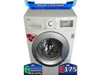Fast Wash, LG Washing Machine, No Belt, Big 7Kg, Top Tech, Factory Refurbished inc 6 Months Warranty